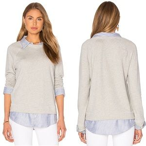 Soft Joie Theia layered sweatshirt Gray Shirt